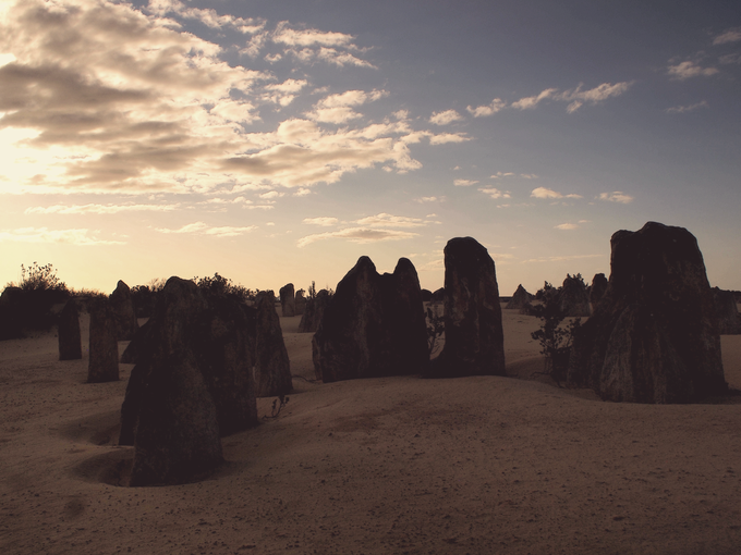 Thousands of space-like Pinnacles—rock formations shaped