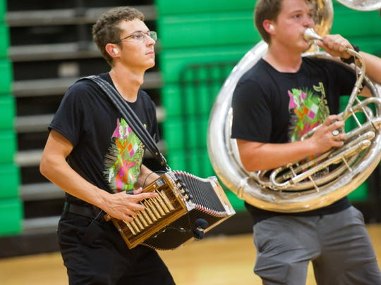 Lafayette High School Band performs for the public ahead of their trip to Grand Nationals.
