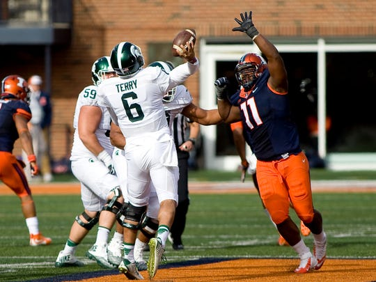 Redshirt-junior QB Damion Terry has played sparingly this season in relieve of senior Tyler O'Connor.