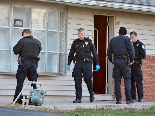York City Police investigate a shooting that sent one man to the hospital, Sunday, Dec. 25, 2016. Police say a man was shot inside a home in the 800 block of Fireside Road. The victim had at least one gunshot wound to the thigh and was transported to the hospital. John A. Pavoncello photo