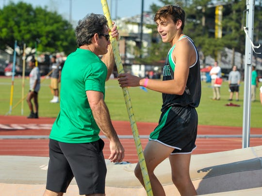 Lafayette High's Armand Duplantis, pictured here with his father and coach Greg, was honored as the Gatorade National Track and Field Athlete of the Year on Thursday.