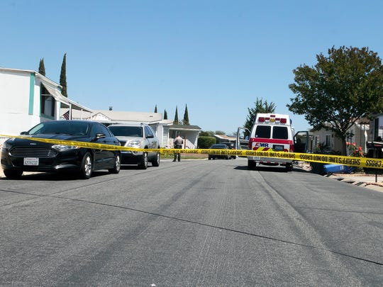 The normally quiet streets of the Villa del Arroyo Mobile Home Park were lined with patrol cars and an ambulance as a woman barricaded herself inside her home after receiving an eviction notice from the Ventura County Sheriff's Office.