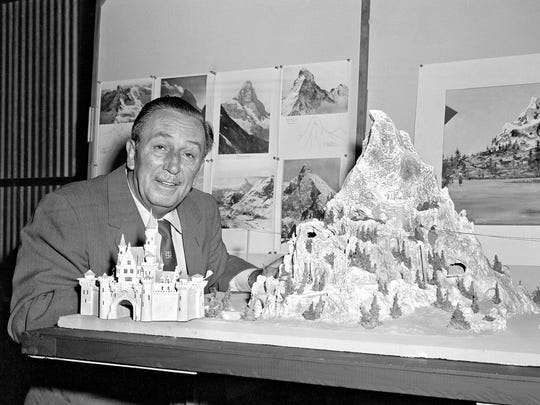 """A ride renaissance began in 1959 at Disneyland in Calif. """"Walt Disney was traveling in Switzerland on vacation with his family,"""" says Robert Coker, author of """"Roller Coasters: A Thrill Seeker's Guide to the Ultimate Scream Machines."""" """"He sent a postcard of the Matterhorn to his Imagineers and just wrote, 'Build this.' """""""