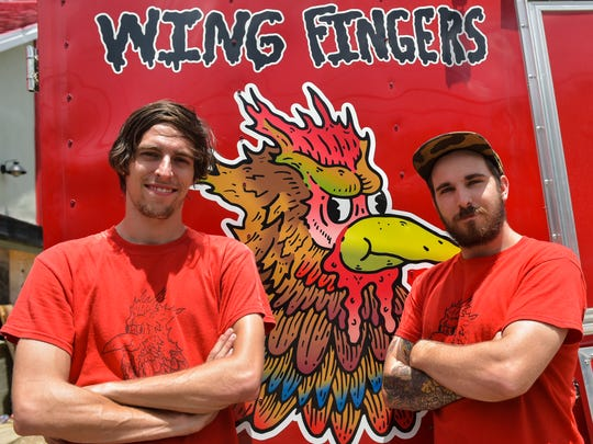 Taylor Cooper, John Hackney and their popular food truck, Wing Fingers