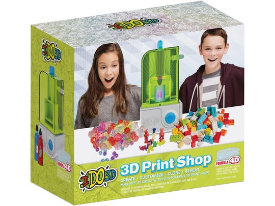 These 45 toys and products have earned the NAPPA seal of approval in 2017. Pictured is the IDO3D 3D Print Shop.