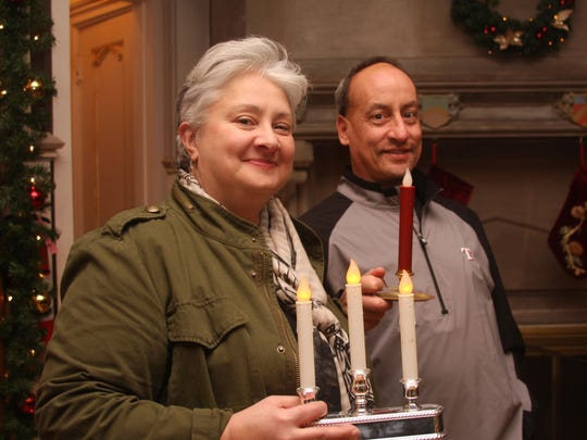 "Lisa and Raymond of West Orange prepare for the ""candlelight"""