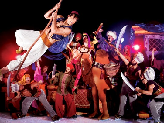 Russian acrobats perform in Disney on Ice presents