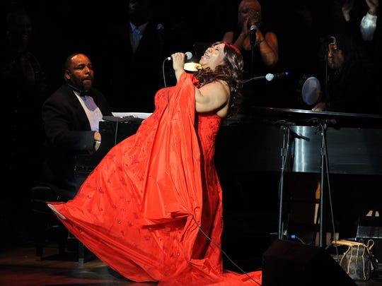 "Aretha Franklin performs at the  ""Let Freedom Ring"