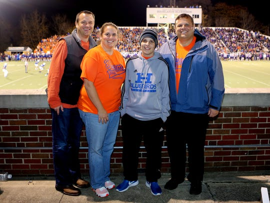 October 24 2014 Brady Walz [center right] poses for