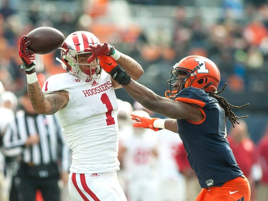 NCAA Football: Indiana at Illinois