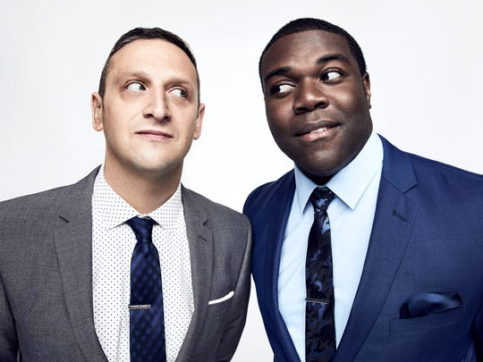 "Tim Robinson, left, and Sam Richardson of Comedy Central's ""Detroiters."""