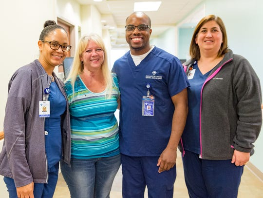 Patti Mallett reunites with the team of nurses that