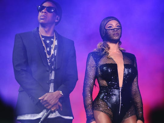 Jay Z and Beyonce perform during the On The Run tour on July 7 in Baltimore.
