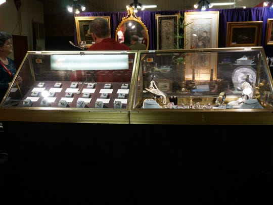 Jewelry and art will be among antiques offered at the