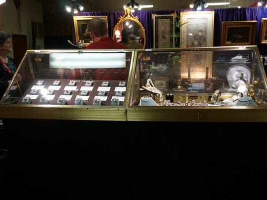 Jewelry and art will be among antiques offered at the Riverside auxiliary show.