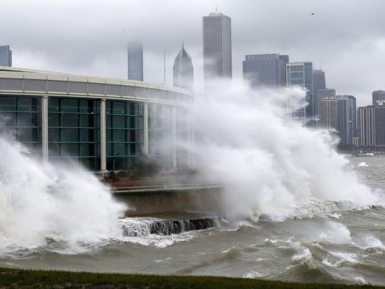 Tan norte como en Chicago llegó el impacto de la fuerte