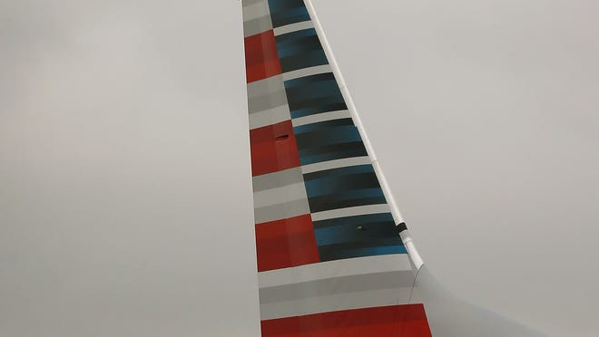 The tail of an American Airlines 737-800 is seen at Chicago O'Hare Airport on Jan. 29, 2013.