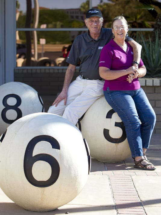 What did two-time lottery-winning Tempe couple do with their