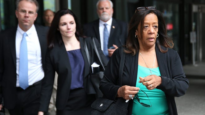 Barbara Byrd-Bennett leaves the Dirksen U.S. Courthouse in Chicago on Friday, April 28, 2017, after being sentenced for her role in a bribery scandal. The former head of Chicago Public Schools was sentenced to more than four years in prison on Friday for steering $23 million in city contracts to education firms for a cut of more than $2 million in kickbacks.