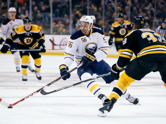 Justin Bailey has logged 17 NHL games with Sabres in two seasons. He's had two call-ups so far this season. He has scored 14-10 - 24 with Rochester.