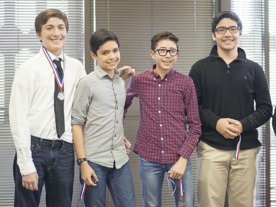Alan Loya-Silva, left to right, Santiago Prieto, Dario