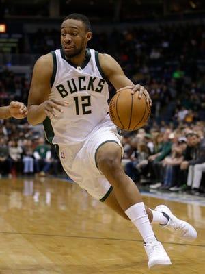 Milwaukee Bucks' Jabari Parker drives to the basket.