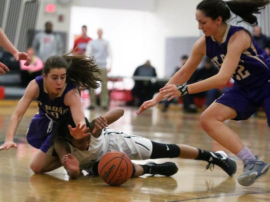 NJSIAA Girls Basketball Non-Public School championship game with Rutgers Prep taking on St. Rose High School at Jackson Liberty High School on Tuesday March 8, 2016.