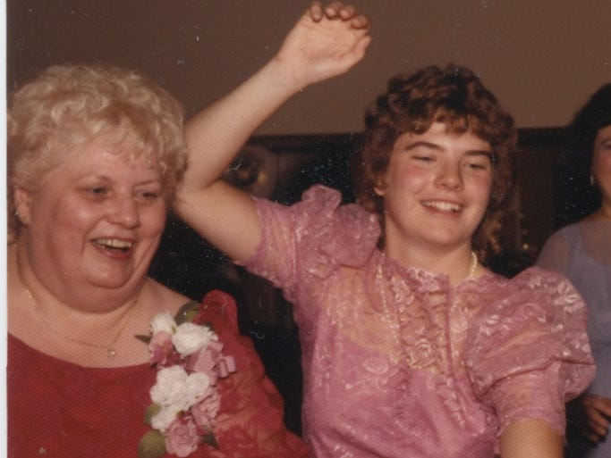 Vicki McCarty, 21, was found brutally beaten to death with her mother, 56-year-old Mary McCarty, Sept. 25, 1987, in their Eastside home. She was the maid of honor Oct. 18, 1986 at the wedding of her sister Valerie, and Mary and Vicki were captured dancing after the wedding in this family snapshot.