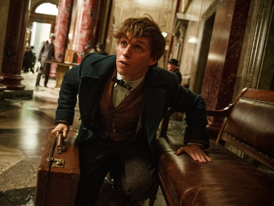 "Eddie Redmayne appear in a scene from, ""Fantastic Beasts"