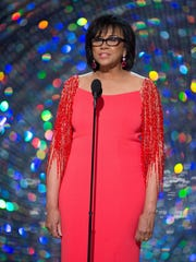 Academy president Cheryl Boone Isaacs on stage at the