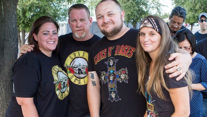Fans attend the Guns N' Roses concert at University of Phoenix Stadium in Glendale on Aug. 15, 2016.