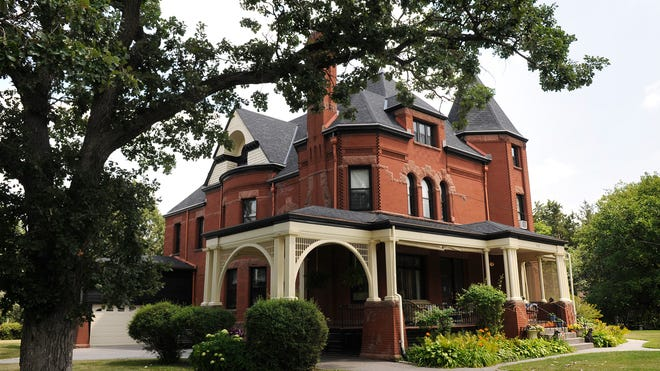The red granite and pressed brick Queen Anne-style Nehemiah P. Clarke House is one of the more prominent homes in the St. Cloud southside Ramsey Place neighborhood. The home was built in 1893 and is listed on the National Register of Historic Places.
