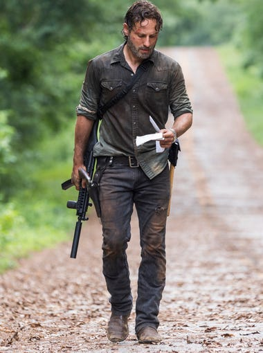 """'The Walking Dead' Season 8's """"all out war"""" continued in Episode 6, which checked in on the various communities. Rick struck out on his own mission. Scroll through for more images from the season (mild spoilers follow)."""