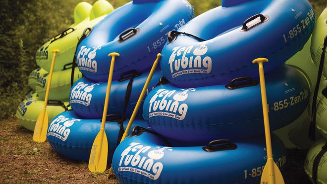 Zen Tubing offers floating up the French Broad River from two different spots.