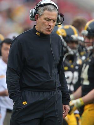 Iowa coach Kirk Ferentz will play two quarterbacks Friday.