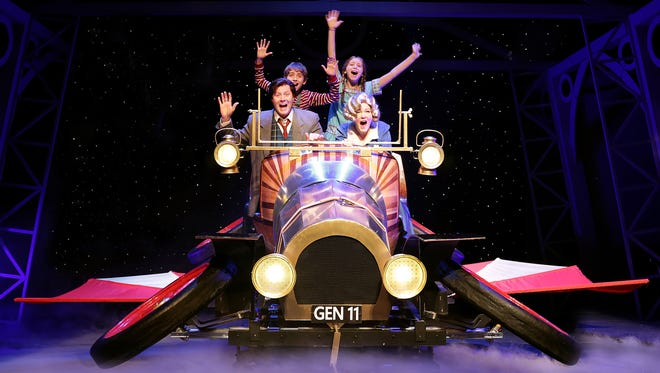 """""""Chitty Chitty Bang Bang"""" runs Nov. 27 through Dec. 20 at the Des Moines Community Playhouse, featuring (clockwise from upper left) Nicholas Wharff, Natalie Grote, Dani Boal and Brandon John Lee."""