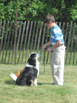 Obedience winner Lee Erath and his dog Rella Roo took first in grades 3-5.