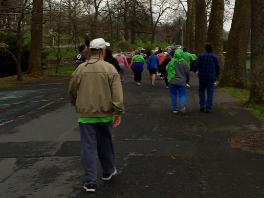 About 100 people took a 'Walk With a Doc' on Saturday