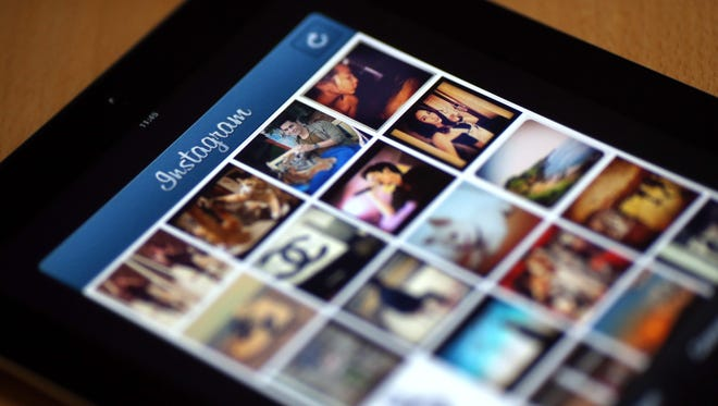 Pictures on the smartphone photo sharing application Instagram.