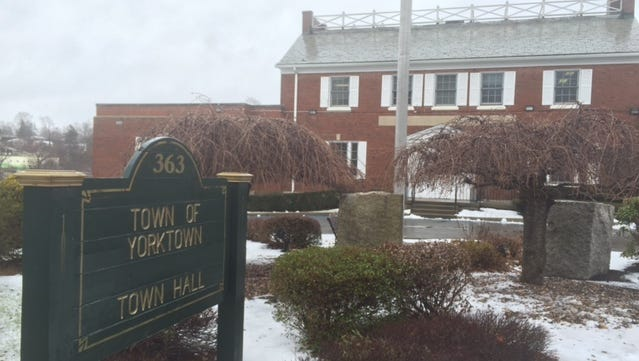 The front of Yorktown Town Hall