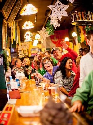 A celebration at Hailey's Harp and Pub.