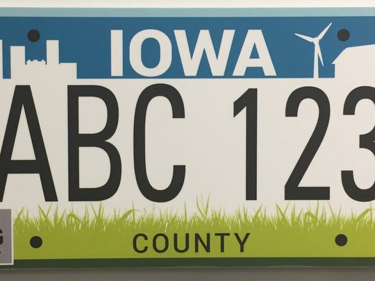 """This plate is known as the """"City and Country Reboot"""" because it is a variation of the current town and country license plate used by Iowa motorists the past two decades."""