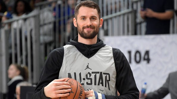 Cleveland Cavaliers forward Kevin Love during Team