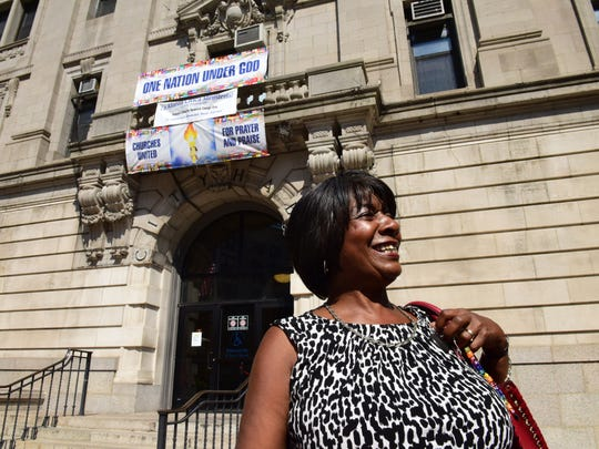 Interim Paterson Mayor Ruby Cotton, seen arriving at