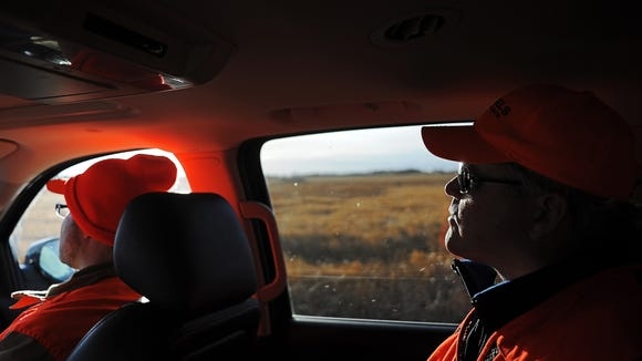 Argus Leader Media columnist Stu Whitney rides in the
