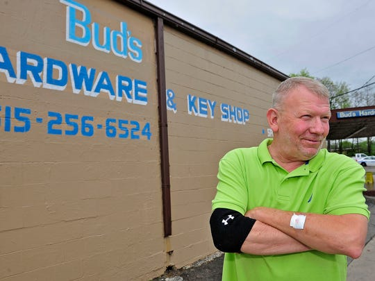 Terry Norman is owner of the Bud's Hardware store, which has been on Buchanan Street for 45 years. He welcomes new businesses in the area.