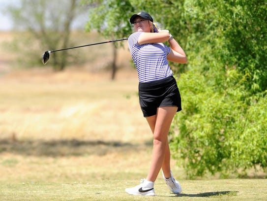 Wylie's Arin Zachary tees off from No. 15 during the