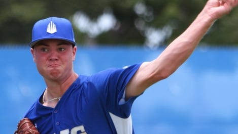 Fletcher's Logan Allen pitches for the IMG Academy which is based out of Bradenton (Fla.).