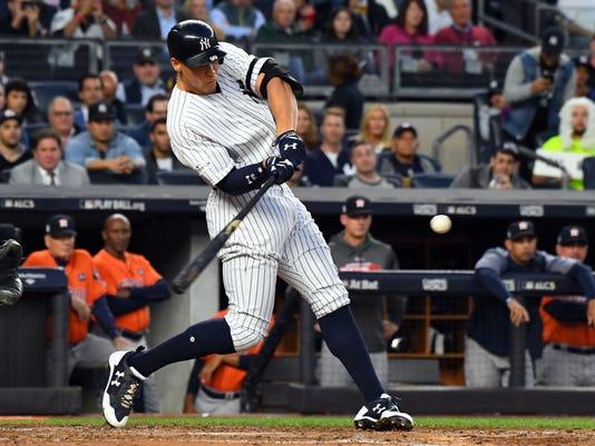 USP MLB: ALCS-HOUSTON ASTROS AT NEW YORK YANKEES S BBA NYY HOU USA NY