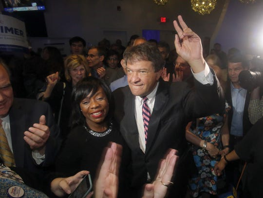 George Latimer celebrates in White Plains after unseating